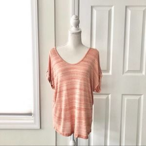 FINAL Soft Joie Orange Relaxed Roll Tab Sweater XS